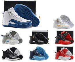 Wholesale Boys Size Easter - Sale Cheap Hot Air Retro 12 Kids basketball shoes for Boys Girls sneakers Children Babys 12s running shoes Size 11C-3Y