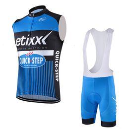 Wholesale cream white suits men - 2017 tour de france Etixx Quick Step Cycling Sleeveless Jerseys + bicycle Shorts suit Mountain bike Maillot men Cycling Clothing D0806