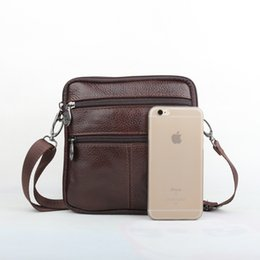 Wholesale Cross News - Wholesale- 2016 News Genuine Cowhide Leather small men bag high quality Vintage male messenger bags Casual shoulder bag