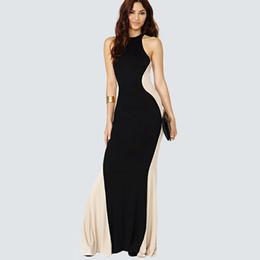 Wholesale Eveing Long Sleeve - Wholesale- plus size summer black casual Women long maxi Celebrity Floor Length sheath Long eveing Party women's Dresses 639