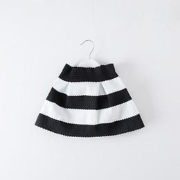 Wholesale Kids Black White Tutu Skirt - Children Skirt Black white Stripe Skirt Kids Fashion Tutu Skirt for 1~7 Y 5 P L