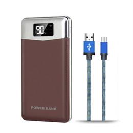 pilas bl 5c Rebajas Nuevo Portable 12000mAh Dual USB Mobile Bank batería de reserva externa Powerbank LED indicador del cargador para todos los teléfonos