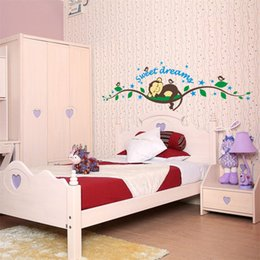 Wholesale Baby Nursery Monkey - Cheeky Monkey Removable Wall Sticker Decal Vinyl Kid Nursery Baby Decor 25*70cm