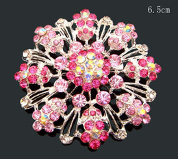 Wholesale Costume Brooch Jewelry Mixed - Wholesale fashion flower brooch jewelry rhinestone women costume jewelry Zinc alloy brooch Free shipping mixed color