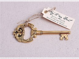 "Wholesale Baby Arrival Favors - New Arrival Key to My Heart"" Antique Gold Bottle Opener wedding favors baby shower birthday gift"