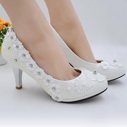 Argentina Zapatos nuevos boda perla princesa blanca zapatos bridesmaid fairy's department Durante la cena anual zapatos de rendimiento supplier white dinner shoes Suministro