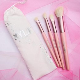 Wholesale White Collection Wholesale - Kylie Jenner Makeup Brushes Holiday Collection 5pcs Kylie Brush Set Pink Brush Set I WANT IT ALL 20th Birthday Limited Edition