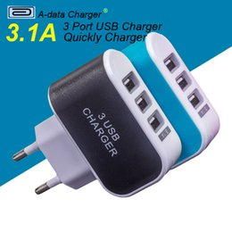 Wholesale Portable Usb Mobile Charger - 3 Ports 2A Micro USB EU Plug Charging Portable Mobile Phone Adapter Travel Wall Charger for iPhone 7 6s 6 5s 5 4 Samsung Charge