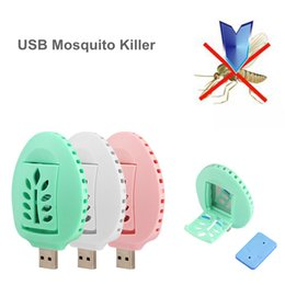 Wholesale Tablet Outlets - Factory outlet! Mini USB Mosquito Repellent Killer System Anti Repellent With 2PCS Free Refill Tablets Odorless DHL free shipping