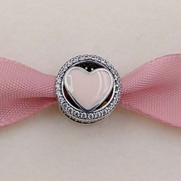 Wholesale Cheap European Charm Beads - Valentines Day 925 Sterling Silver Beads Pink Wonderful Love Charm Fits European Pandora Style Jewelry Bracelets 792034CZ Cheap Love Gifts