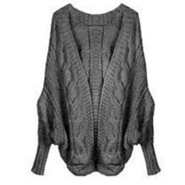 Wholesale Thick Computer Sleeve - Wholesale-New Winter Women's Loose Thick Wool Sweater Batwing Sleeve Knit Cardigan Jacket Coats 5 LS8