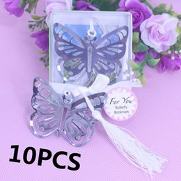 Wholesale Girls Baptism Gifts - Wholesale-10PCS Personalised Butterfly Bookmark Favors For Baptism Girl Baby Shower Graduation Birthday Wedding Favour And Gifts For Guest