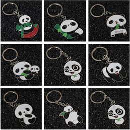 Wholesale Feature Art - Brand new Large Panda Keychain Metal Pendant Tourist Features Chinese Wind Foreign Affairs Small Gifts R014 Arts and Crafts mix order