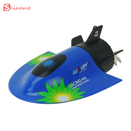 Wholesale Rc Brushless Motors - Kids toys remote control boat Speed radio electric mini tourist rc submarine create racing boats for children gifts