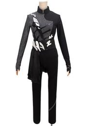 Kukucos YURI !!! Su ICE Katsuki Black Performance Cosplay Costume Maschile Dimensione da costumi da ghiaccio neri fornitori