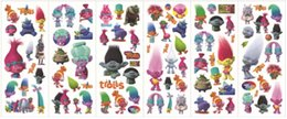 Wholesale reward stickers - Trolls Poppy Sticker Cartoon Pattern Children School Reward Wall Desk Stickers Scrapbook Children Toys Stickers kids Gift toys