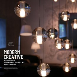 Wholesale Meteors Magic - Modern Magic Balls Pendant Lamps G4 LED Meteor Chandeliers Crystal Ball Pendant Lighting Fixture Home Indoor Hall Stairway Dining Room Lamps