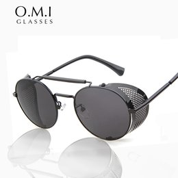 b26d1b8e9f circle frame metal sunglasses Coupons - Gothic Sunglasses Men Vintage Retro Steampunk  Sunglasses Round Circle Metal