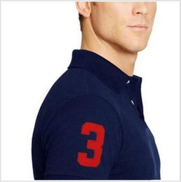 Wholesale Mes Shirts - Big horse brand tee polos shirt men shirts short sleeve casual style masculina camisetas sportswear for ralp me shirts