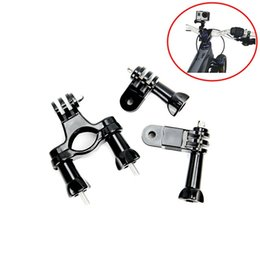 Wholesale Gopro Bar - Go pro mount bike Fixed Handle Bar Bike Bicycle Holder Mount for GoPro Hero 4s 4 3+3 2 1 Xiaomi Yi Camera Accessories Mount Sports Action