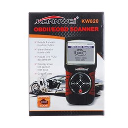 Wholesale Car Engine Codes - Wholesale- Low Price Car Diagnostic-tool KW820 OBD OBDII 2 Car Vehicle Engine Diagnostic Scanner Code Reader Tool original package
