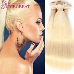 Wholesale 22 Virgin Blonde Extensions - Brazilian Straight Human Hair Bundles Unprocessed Straight Human Hair Extension 613# Brazilian Blonde Straight Human Hair Weave Bundles