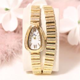 Платья с бриллиантами онлайн-BS часы высокого класса цепи змея в форме алмаза полный - алмаз женский FA1168 Fashion Women Dress Brand Watch