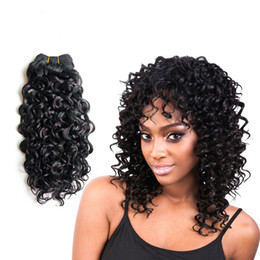 Wholesale French Weaving - Hair Products 14-18 Inch French Deep Curly Hair Extension Omber Curly 1 Piece 100g pc Bundles Hair Weft High Quality