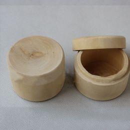 Wholesale Mini Pails Wedding - Mini Round Wooden Wedding Ring Jewelry Trinket Box Wood Storage Container Case Wooden Craft Box Unique Trinket Storage Box