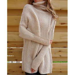 Wholesale Pink Knit Top - Hot knitwear knitted sweater Femmes Chandail Oversize Manches Batwing Pull tricoté Tops Cardigan Outwear Women's Knits Tees knitting shirt