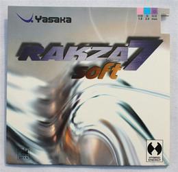 Wholesale Pingpong Table Tennis - Yasaka rakza7 soft ( RAKZA 7 soft, rk 7 soft ) R7 RUBER mixed anti-adhesive pingpong rubber table tennis rubbers for rackets free shipping