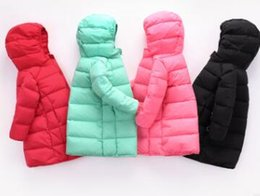 Wholesale Girls Puffer Down - 2017 the foreign trade Autumn and winter skimpy children's puffer boy girl child's short hooded jacket