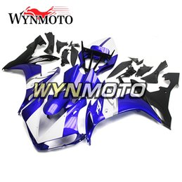 Wholesale yamaha r1 white body kit - Blue White Full Fairings For Yamaha YZF R1 2004 2005 2006 YZF1000 R1 Injection ABS Motorcycle Body Kits Motorbike Body Frames