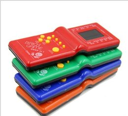 Wholesale Electronic Brick Game - Childhood Classic Tetris Hand Held LCD Electronic Arcade Pocket Game Toys Fun Brick Game Riddle Educational Toys games