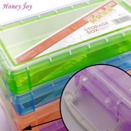 Wholesale Manicure Storage Box - Wholesale- Small Size Rectangular Storage Case Professional Nail Art box Manicure kit Nail Tool Makeup Box with Hasp at Sides