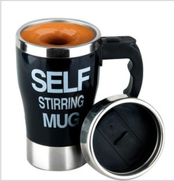 Wholesale office auto - 350ML Stainless Lazy Self Stirring Mug Auto Mixing Tea Coffee Cup Office Home Use Christmas Gifts