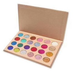 Wholesale Free Eyeshadows - Hot CLEOF Glitter Eyeshadow Powder Pigment Mineral Spangle Long-lasting 24 Colors CLEOF Diamond Rainbow Eyeshadows Gift Free Shipping