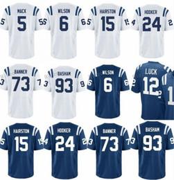 Wholesale Cheap Banners - 2017 Draft Pick 5 Mack 15 Hairston 29 Malik Hooker 6 Quincy Wilson 93 Tarell Basham 73 Zach Banner Cheap Elite Men Women American Jerseys