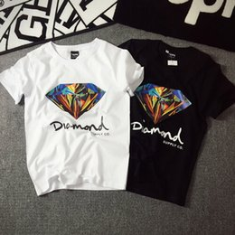 Wholesale new short skateboard - Wholesales New fahion 3D Diamond men short sleeve t shirt skateboard fashion brand clothing hip hop camisetas mens tops shirt homme