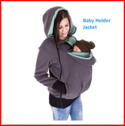 Wholesale Baby Fleece Hoodies - Maternity Carrier Baby Holder Jacket Holding Baby Outerwear Coats Mother's Kangaroo Hoodie Duo Top Carrier Baby ouc100