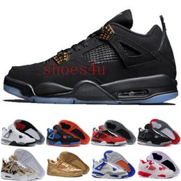 Wholesale Cheap Breathable Waterproof Fabric - [With Box]New arrived 100% hight quality waterproof retro 4 men basketball shoes all white cheap Basketball Men Athletic Shoes for sale
