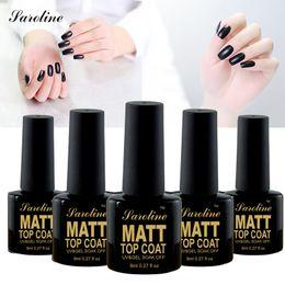 Wholesale Cheap Nail Art Polish - Wholesale-Saroline Matt Matte Top Coat Nail Gel Polish Nail Art Tips Dull Lacquer Matt Top Gel Finish Top Coat Long Lasting Gel cheap