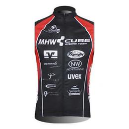 Wholesale Tour France Vests - CUBE Men Tour de France sleeveless Vest Cycling jersey Bicycle Clothing MTB Bike Maillot Ciclismo Sportwear china cheap D0602