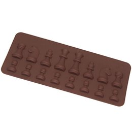 Wholesale Mini Silicone Baking - Wholesale- 15-Cavity Chess Shaped Ice Chocolate Sugar Cake Silicone Mini Cube Tray Chess Bakeware Baking & Pastry Tools