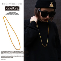 Wholesale Round Thick Necklace - 18K high quality thick gold plating new Japanese tide men and women fashion hip hop hip hop necklace fox tail round chain