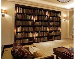 2019 estantería de libros Papel pintado de encargo de la foto 3D estilo europeo Sofá retro fondo de pantalla de televisión Papel pintado de pared librería libros libros de pared Mural de papel de pared estantería de libros baratos