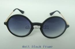 Wholesale Flash Beach - 1Pcs Top Quality Fashion Round Sunglasses Eyewear Black Frame Orange Flash Mirror Lens 49MM With Brown Case