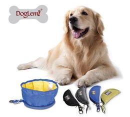 Wholesale Foldable Pet Dog Traveling Bowl Waterproof Idea Pet Dog Food Bowl PD60003