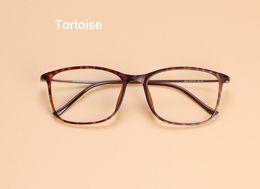 Óculos de carbono de tungstênio on-line-Atacado-Hot Moda Homens Mulheres Vintage Óculos De Tungstênio Quadro Mulheres Quadrado Elegante Aço Carbono Miopia Óptica Óculos