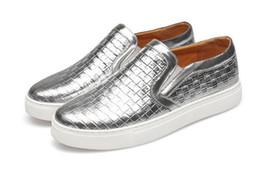 Wholesale Silver Hip Hop Shoes - 2017 Hot sales men platform loafers slip on casual leather shoes men mocassins driving shoes guys hip hop shoes plus size 39-47 GX49